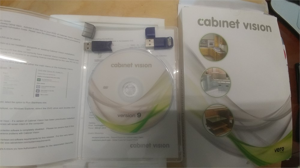 MachineryMax Com - CABINET VISION SOFTWARE PACKAGE, VERSION 9